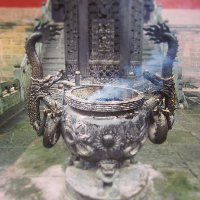 Le tripod du chaudron symbolise les 3 régulations du Qi Gong. Crédits : Mohammed Saïah