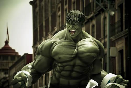 L'incroyable Hulk symbole de la colère du printemps